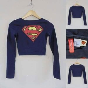 H&M Superman Crop Longsleeve